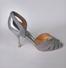Badgley Mischka Women's Criss Cross Tatiana Silver D'Orsay Pump 10 B (M)