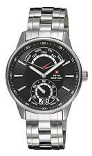 50 m (5 ATM) Armbanduhren aus Edelstahl mit Schweizer Uhrwerk für Herren