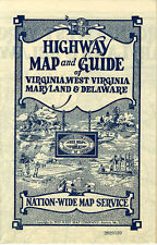 1932 VA/WV/MD/DE Road Map from Nation-Wide Map Service (Mid-West Map Co.)