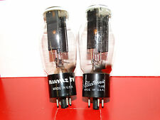 2 x 5u4g GE Rectifier Tubes *Black Plates*D* Strong Matched Pair*