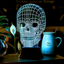Amazing 3D Illusion Bulbing Lamp Acrylic LED Night Light USB Table Desk Lam