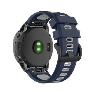 For Garmin Fenix 6X/6 Pro 3HR/5/5X Quick Fit Silicon Watch Band Strap 26/22/20MM