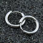 Men's Women's Tube Ear Studs Hoop Huggie Punk Stainless Steel Earrings Jewelry