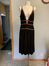 BCBG Maxazria Lillie Dress Faux Leather Size 10 In (Black/Brown) Msrp $298.