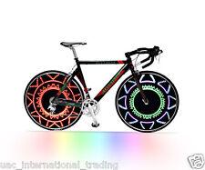 Bike Wheel Colourful message LED Light Bicycle Spoke Cycling Pattern Neon Light