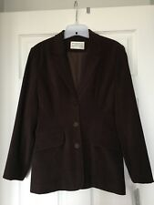 NWT BEECHERS BROOK Dark Brown Fully Lined Blazer (Made in Canada) Size 2 Petites