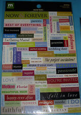 NEW 114 pc WEDDING WORD FETTI Words Phrases  MAKING MEMORIES Stickers