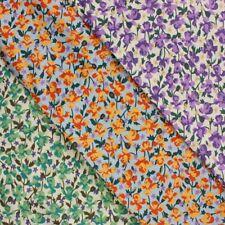 100% Baumwolle Rasen Stoff Ditsy Floral Blätter Blume Garten Blüten Römerstraße