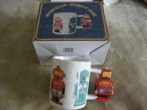 NOVELTY 3D RETRO ROBOCUP ROBOT MUG WITH ROBOT HANDLE NEW IN BOX