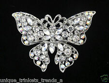 BIG CRYSTAL BUTTERFLY BROOCH PIN~MOTHERS DAY GIFT FOR HER MOM WIFE GRANDMOTHER