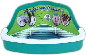 Small Pet Litter Box Corner Lock Critter Rabbit Ferret Wire Pan Colors May Vary