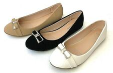 Woman Outdoor Soft Sole PU Dress Flats Shoes Slip On Closed Toe Rinhstone top
