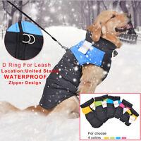 Mini Large Dog Cat Coat Waterproof Winter Warm Pets Clothes Jacket Vest Apparels