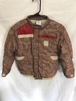 Disney Store Star Wars Finn Brown Red Stripe Resistance Jacket Size 7/8 Good Cnd