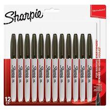 SEALED Sharpie Black Ink FINE Point Bullet Tip Permanent Marker Pens Pack of 12