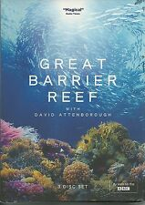 GREAT BARRIER REEF WITH DAVID ATTENBOROUGH - 3 DVD BOX SET - AS SEEN ON BBC