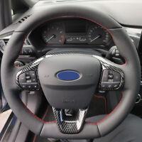 Carbon Optik Lenkrad Blenden Rahmen Abdeckung für Ford Fiesta VII MK7