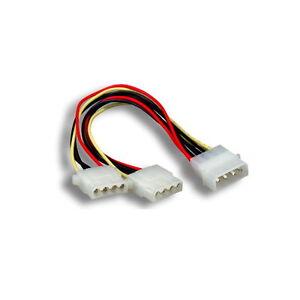 "4-pin Molex Male to Y-Splitter 2X 4 Pin Molex Female IDE Power Cable Adapter 8"""
