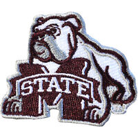 "Mississippi State Bulldogs NCAA Bulldog Iron On Embroidered Patch 1.5"" x 1.75"""