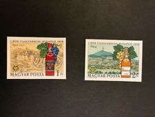 Hungary Scott No 2166-7 MNH Imperforate Imperf Imp 1972 Wine Exhibition