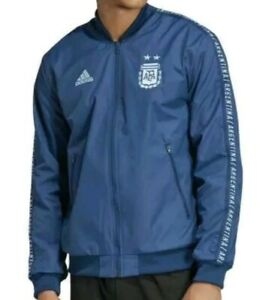 Adidas AFA Argentina Anthem Jacket Blue Knight/Aqua Mens Size XS DP2909 New