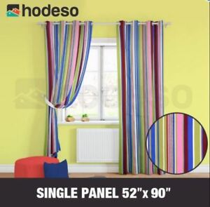 Home Décor Grommet Curtain Amelia Single Panel (Stripes Design)