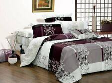 May Print 100% cotton bedding set: 2pc or 3pc or 5pc duvet cover set all sizes
