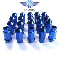 20pcs Universal Blue M12X1.5 50mm Wheel Rim Lug Nuts For Honda Acura Toyota BMW