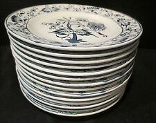 Blue Onion Doorn Ironstone Bread & Butter Plates Set of 14