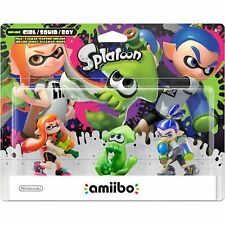Nintendo Splatoon Series 3-Pack Amiibo Figures Switch - 3DS - WiiU - Brand New