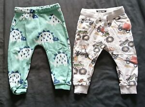 NEXT, M&S Baby Toddler Boys Dinosaurs Vehicles Jogging Bottoms Age 12-18 Months