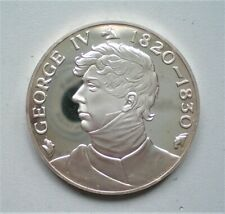 UK, John Pinches, Silver Proof Medallion,King George 1V, 44 mm and 40 gr {E676}