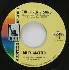 Jazz 45 Billy Maxted - The Siren'S Song / Street Of Dreams On Liberty
