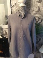 Mens Grey Fleck Shirt L Peter Werth Long Sleeved FREE DELIVERY