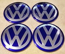 VW 90mm Wheel Center Hub Cap Decal Emblem STICKERS Jetta Golf MK4 Bettle Passat