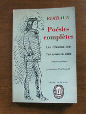 RIMBAUD - poesies completes  - French edition - 1967 poetry  - SEASON IN HELL