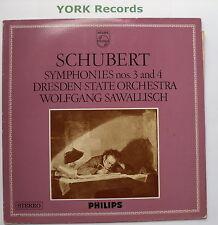 SAL 3726 - SCHUBERT - Symphonies No 3 & 4 SAWALLISCH Dresden St O - Ex LP Record