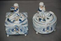 Allied Candy Boxes China Made in Japan Flute Boy and  Mandolin Girl