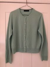 M&S Marks & Spencer PURE 100%CASHMERE LADIES CARDIGAN SIZE 12 MINT GREEN