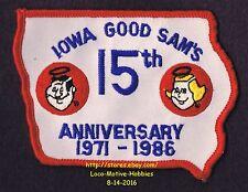 LMH Patch 1971 1986 GOOD SAM CLUB Motor Home RV Camper 15th ANNIVERSARY Sam's