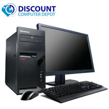 "Lenovo Desktop Computer PC C2D 2.13GHz 4GB 250GB w/17"" LCD  Windows 10 Pro"