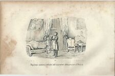1846 NAPOLEONE OSSERVA RITRATTI Alessandro I Russia Federico Guglielmo Prussia