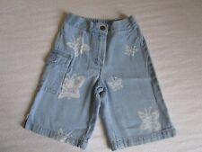 Mädchen Jeans Shorts kurze Hose blau Gr. 110 Reißverschluss Gummizug im Bund