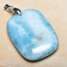 blu caraibi Larimar Diaspro Argento Sterling 925 gancetto 4.4cm CIONDOLO P12155