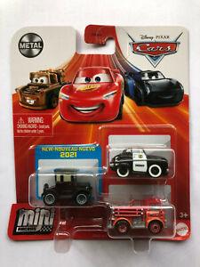 DISNEY PIXAR CARS MINI RACERS -  LIZZIE, RED, SHERIFF