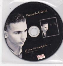Ricardo Gabriel-Jij Voor Eeuwigheid promo cd single