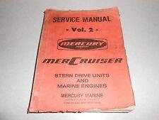 VINTAGE Mercury Mercruiser Stern Drive Boat Repair & Service Manual