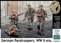 MAS35145 - Masterbox 1:35 SCALE MODEL FIGURES  - German Paratroopers WWII