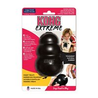 KONG Extreme Black Rubber Dog Toy Treat Dispenser S M L XL XXL