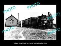 OLD LARGE HISTORIC PHOTO OF WILMOT NOVA SCOTIA RAILROAD DEPOT STATION c1900